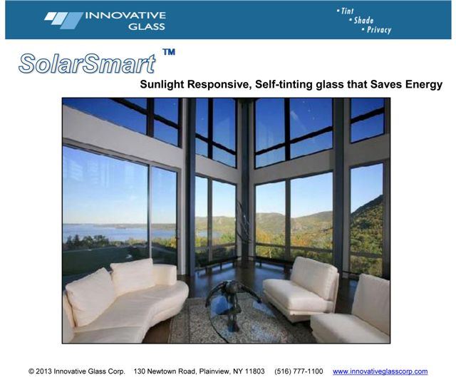 SolarSmart Glass
